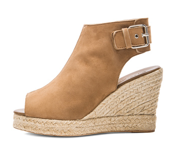 ELYSEWALKER LOS ANGELES Lesley Suede Wedges in Tan Shop With Sally Sally Lyndley Fashion Stylist