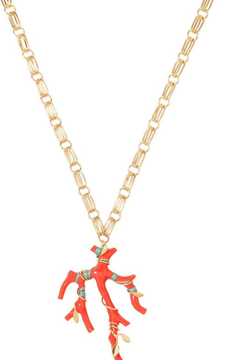 "Aurelie Bidermann ""Capri"" Long Necklace Shop With Sally Sally Lyndley Fashion Stylist"