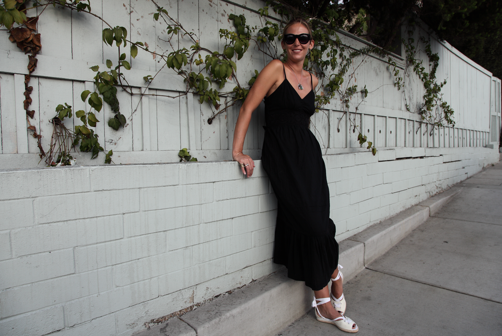 Vintage Black Dress Sally Lyndley Street Style