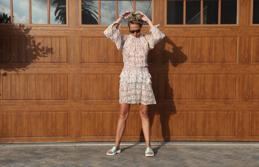 Vintage Flower Dress Sally Lyndley Street Style