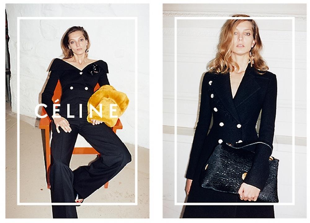 Celine Daria Werbowy Juergen Teller Fall Winter ad