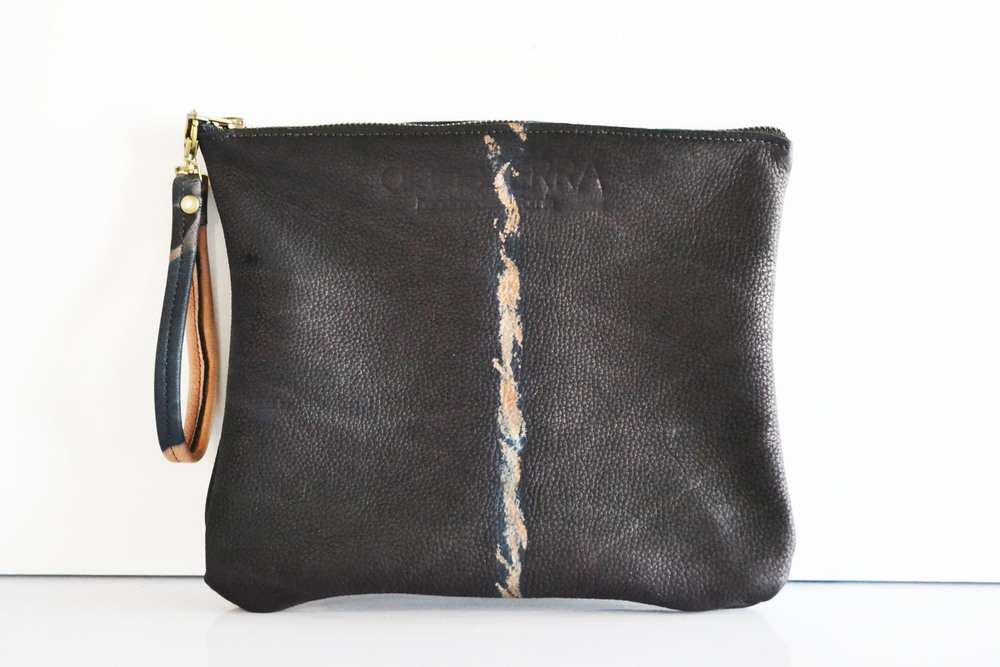 Diane Serra Leather Pouch Sally Lyndley