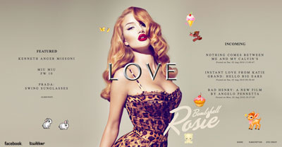Rosie Huntington Whiteley Love Magazine Sally Lyndley