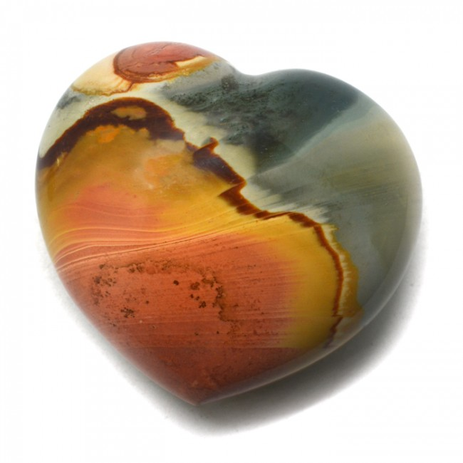 Polychrome Jasper Heart $34.99 for Vitality & Happiness