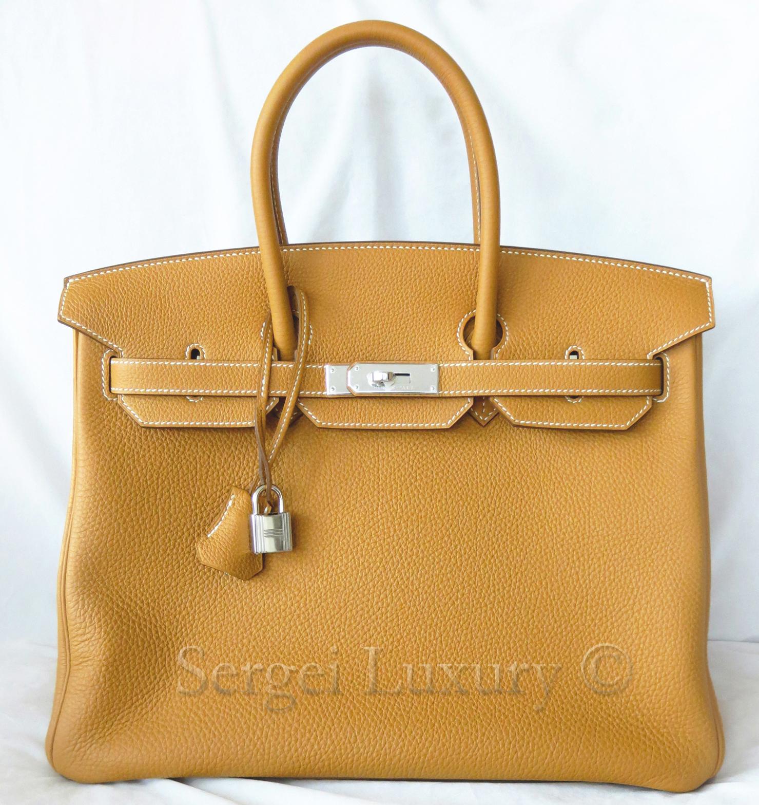 8218b006da NEW Hermes Birkin 35 Sable Sand Gold Togo Tote bag PHW Silver — Sergei  Luxury