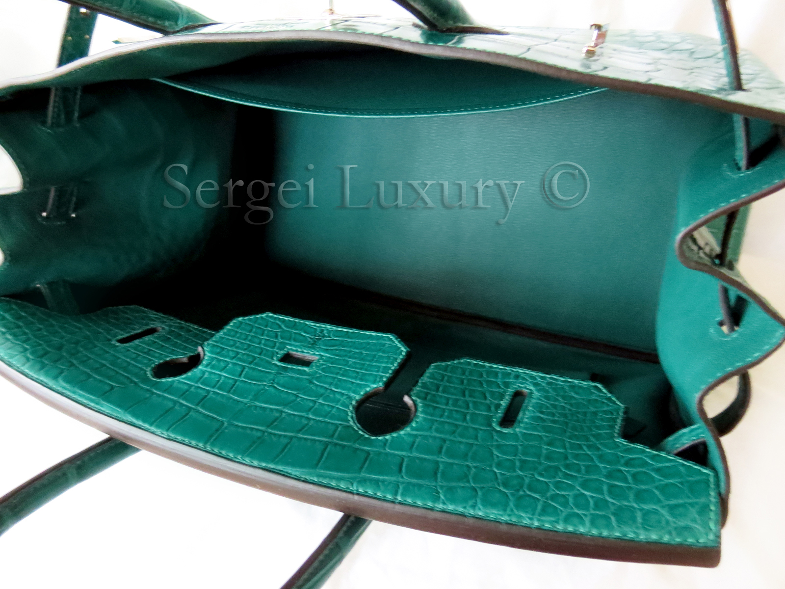 395aefcebb15 NEW Hermes Birkin 35 Malachite Green Emerald Matte Crocodile ...