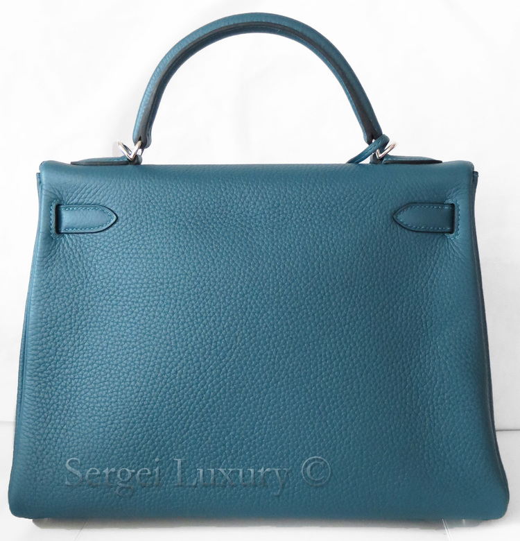 hermes canvas tote bag - Chic NEW Authentic HERMES Blue Tempete Amazone Canvas Strap Kelly ...