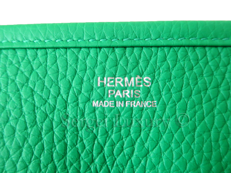 818424807fc8 2014 New AUTHENTIC Hermes Evelyne BAMBOO PM green Cross body ...