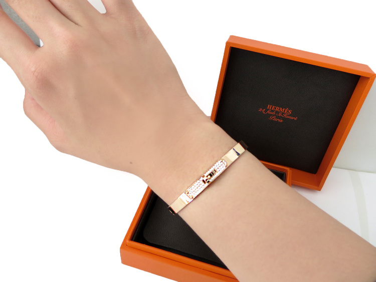 pursevalley replica - LOVE! New Authentic HERMES Kelly ROSE Gold Bangle Bracelet Half ...