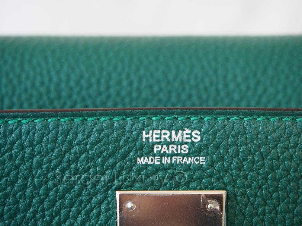 11cc23d6b9eb Regal NEW Authentic HERMES Malachite Green Kelly bag 32 cm PHW Togo —  Sergei Luxury