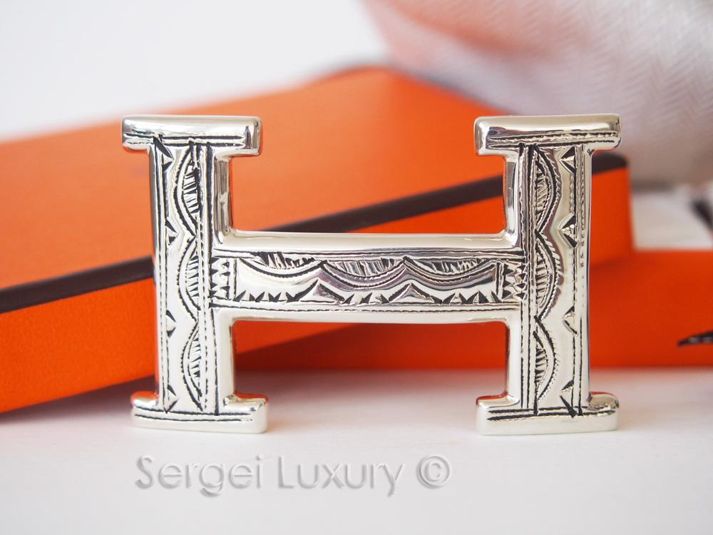 Rarest Hermes New Sterling Silver Touareg Handmade