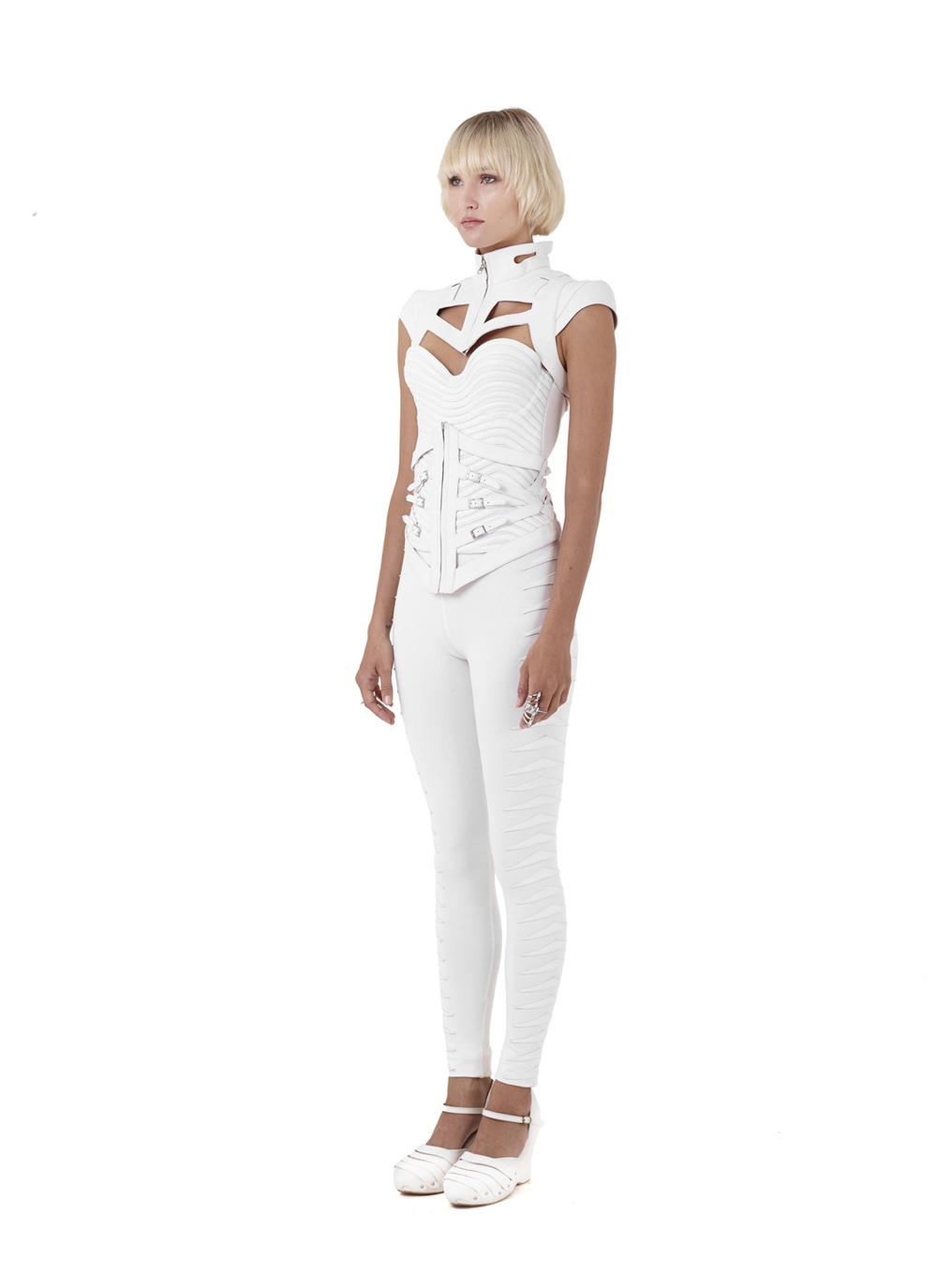 Quartz shoulders, Obsidian corset, Quartz corset & Rhys pants