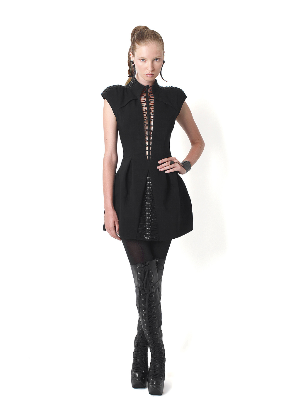 Adora Dress, Long Plated Boots