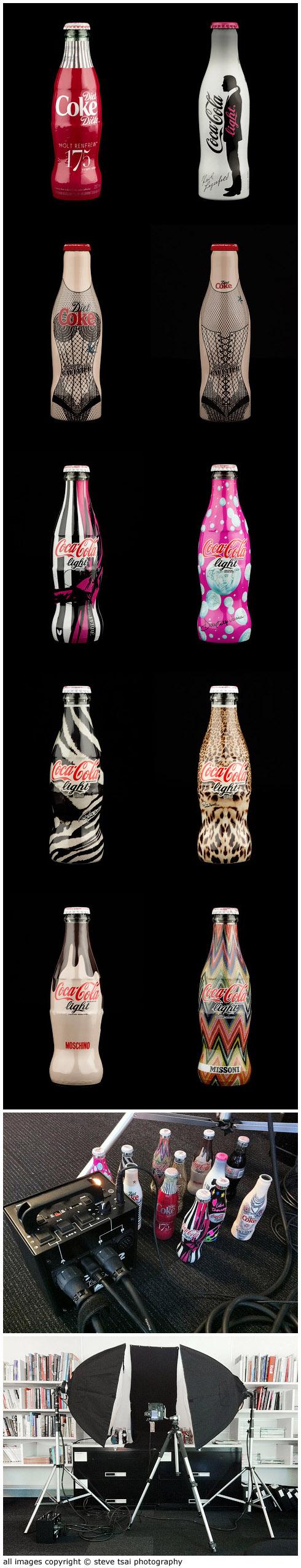 coke light bottles
