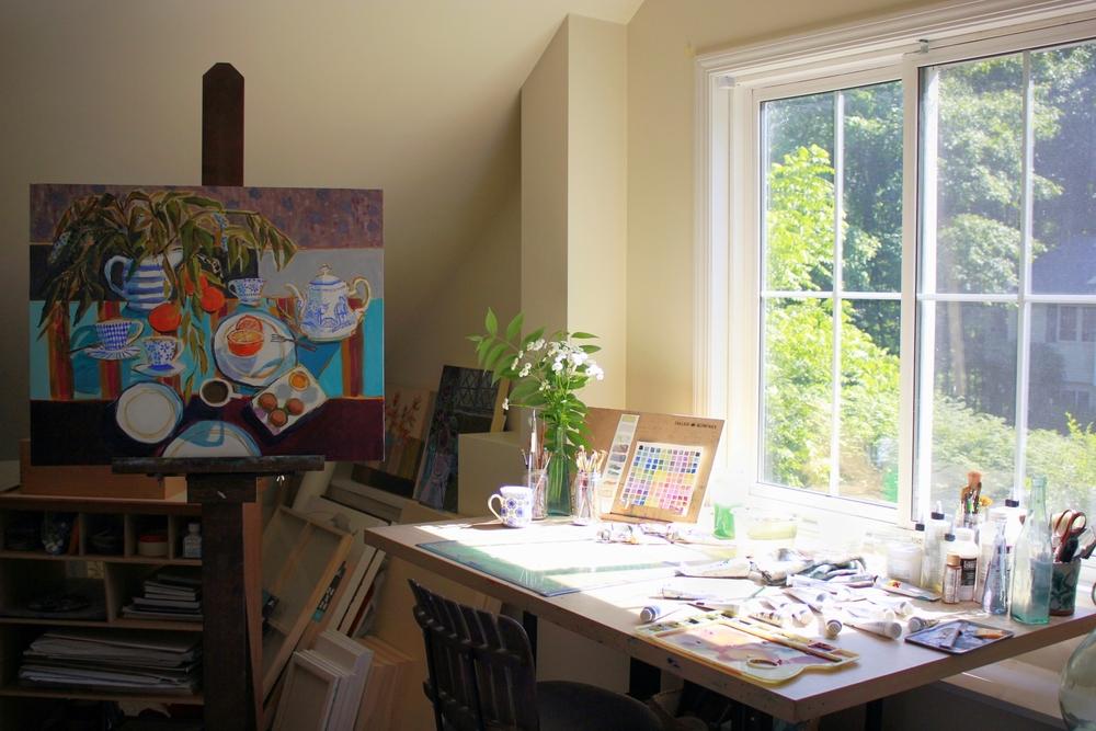 Hope Olson, sunny art studio