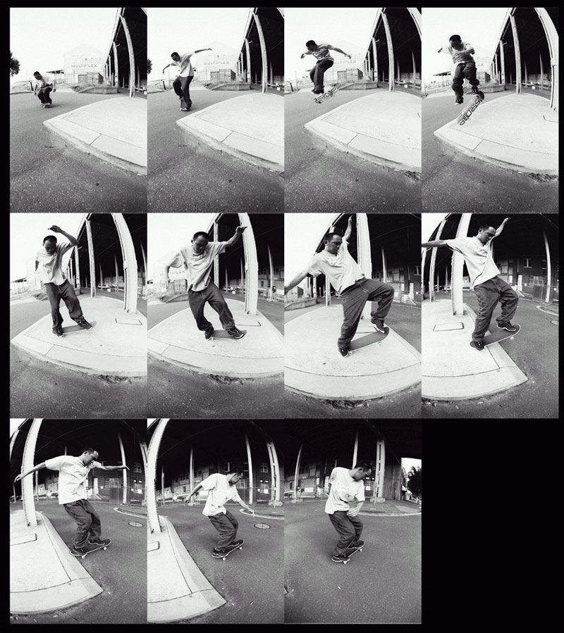 360 nollie heelflip manual. Photo: Mah.