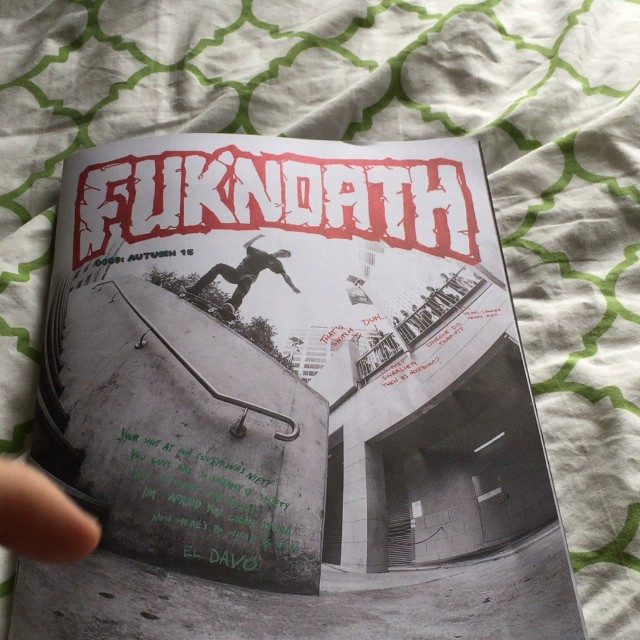 Pick up a @fuknoath magazine from @newcastleskateshop and check @_jopo new add!!