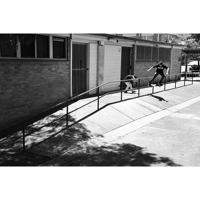 @_jopo with a nollie crook to fakie. Photo @brendanfrost