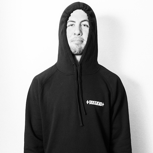 Matty in the OG Blackout hoodie. Keep warm this winter.