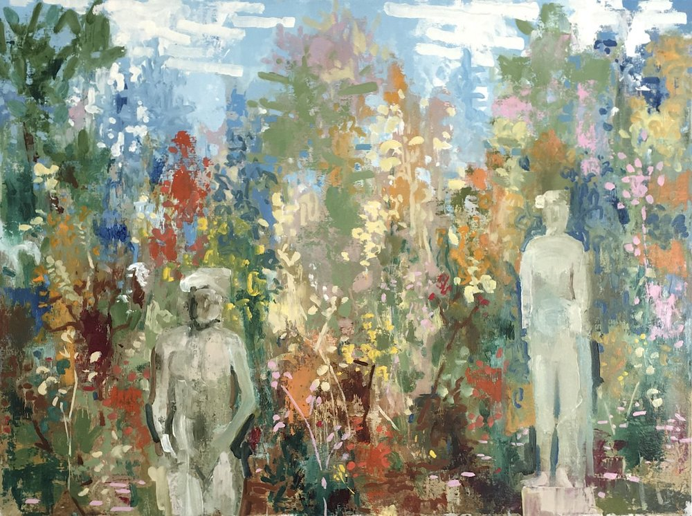 Two Figures in the Garden