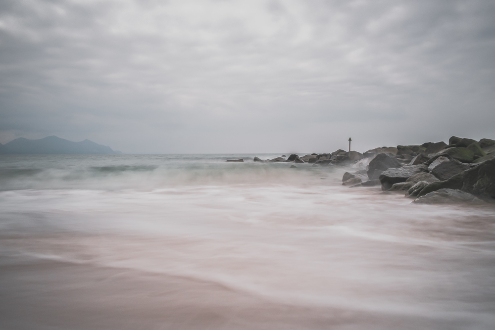 Dinas Dinlle - X-Pro1 + 18mm f/2 & B+W 110 ND Filter @ f/16. ISO200.3.2 second exposure.