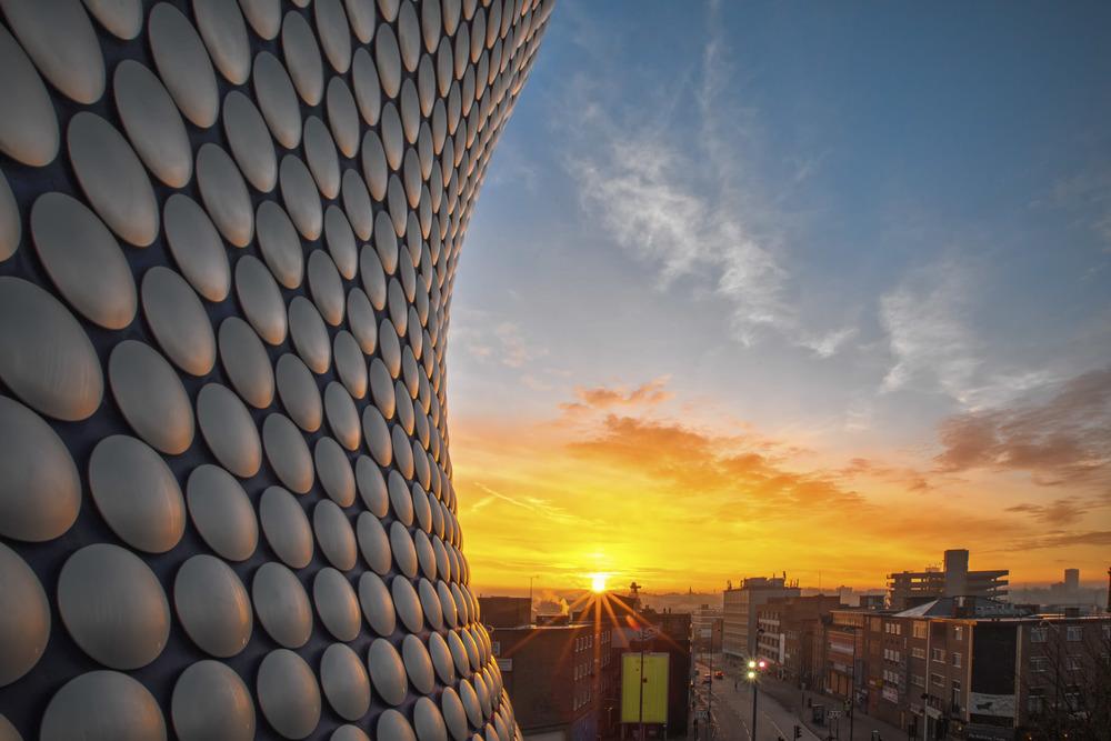 """Sunrise over Selfridges"" - Birmingham, England. Canon 6D + 16-35 f/2.8L II @ f/22. 1/25."