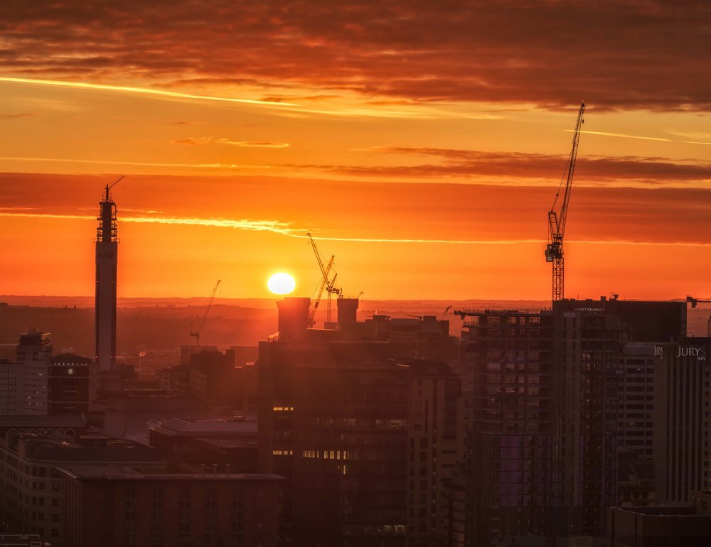 The BT Tower at sunrise. The city is constantly evolving.