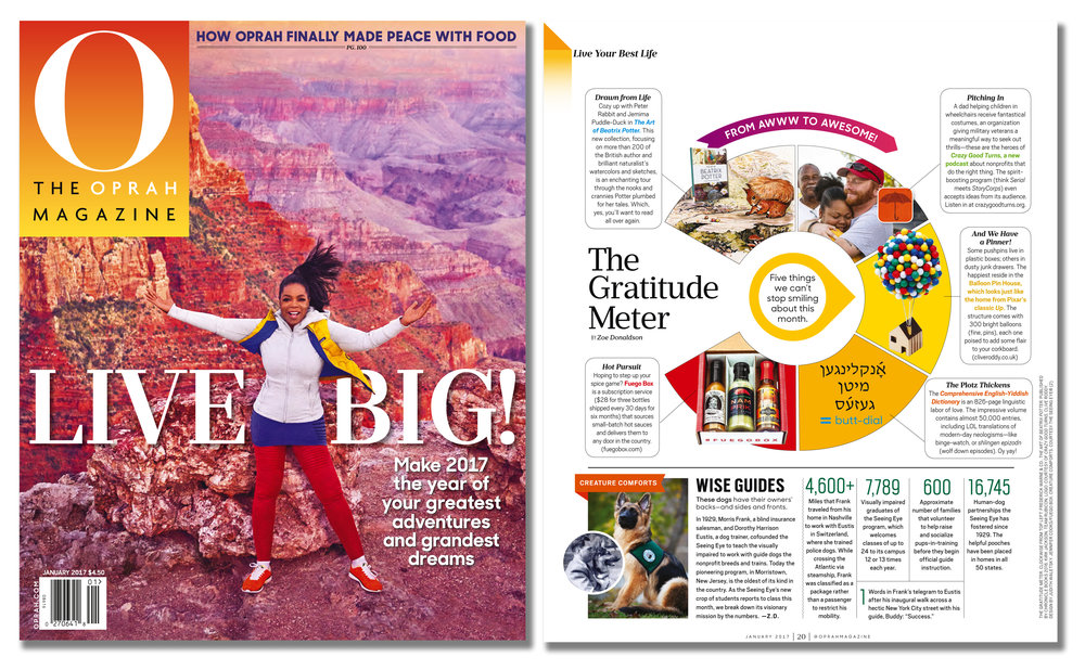 'Balloon Pin House' featured in 'O' - The Oprah Magazine  . Published in December 2016. USA  .