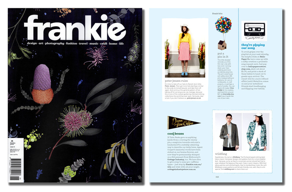 'Balloon Pin House' featured in Frankie Magazine. Published in October 2017. Australia.