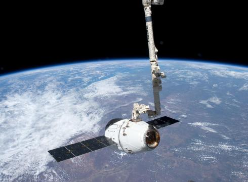SpaceX's much-celebrated Dragon Capsule delivering... what ever it is that you need to deliver to the International Space Station. Pizza?