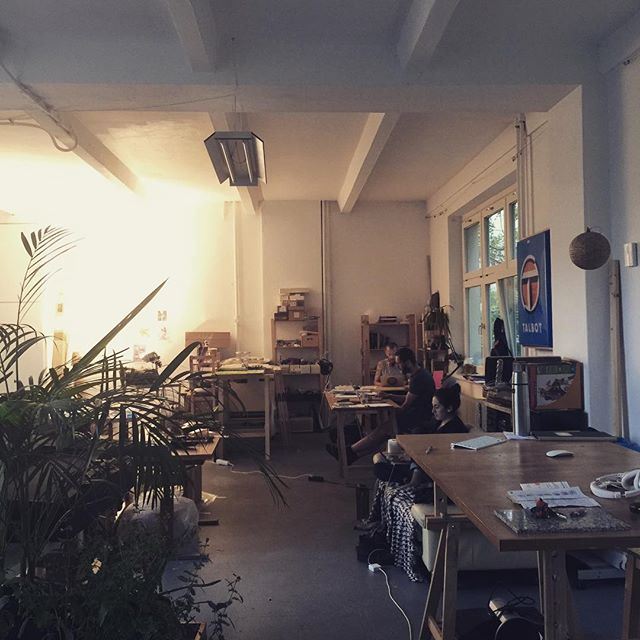 Happy times in our studio of dreams today. Grey outside, cosy inside. #freelancelife #berlin #atallier