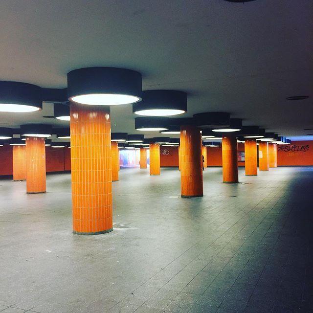 Ghostly pillars. #berlin #architecture #pillars #underground
