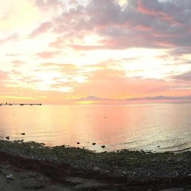 Malmö sunset #nofilter #sweden #pinklight