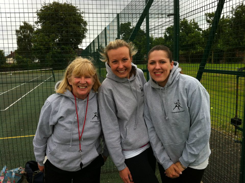 Meet Maureen (L) and Karen (R) our umpires and franchisee (middle) Katy