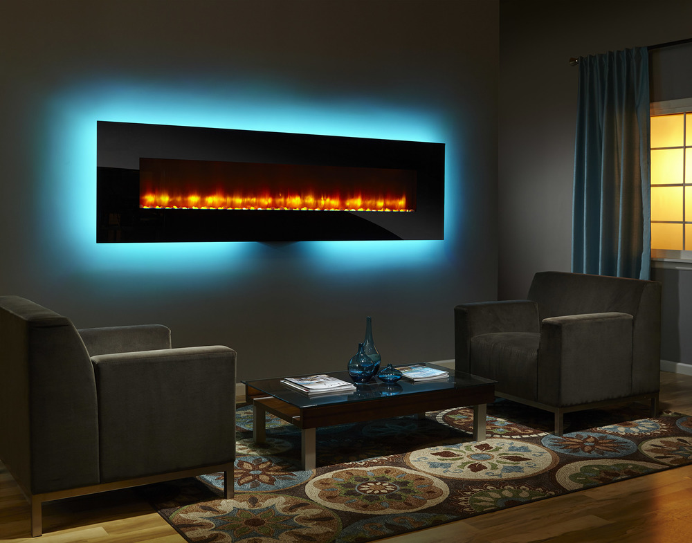 SimpliFire Wall Mount 94 - Photo (Black, Orange Flame, Aqua Light, Color Low Res).jpg
