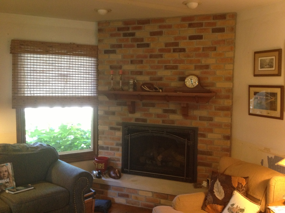 Escape Insert w/ Brick Work and Mantel