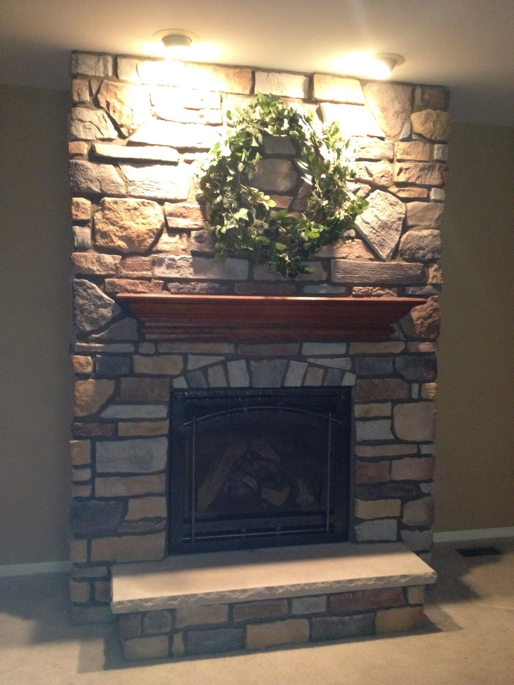 6000CLX w/ Stone Work and Mantel