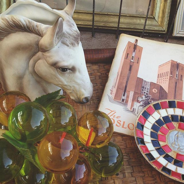 Come on down, lots of fun stuff today! #vintage #midcentury #oddities #kitsch #fleamarket #homedecor #grandrapids #michigan