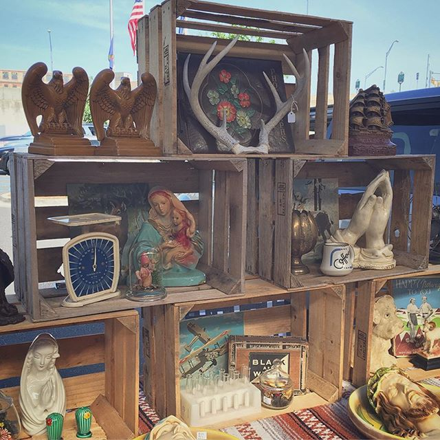 Back at the @vintagestreetmarket tomorrow, 10-4pm! I need to thin out my inventory for now, so lots of stuff will be marked down and I'll be taking reasonable offers - don't miss out! #vintage #midcentury #oddities #kitsch #homedecor #fleamarket #grandrapids #michigan