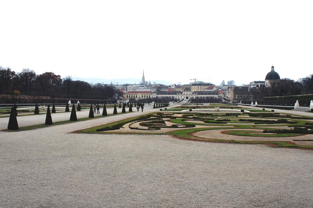 Belvedere Palace Gardens in Vienna, Austria