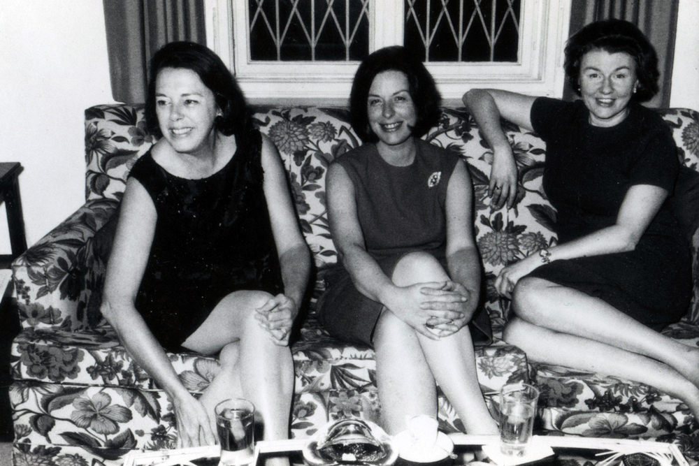 Doris in the center with Baroness Cissy von Riedel on the right.