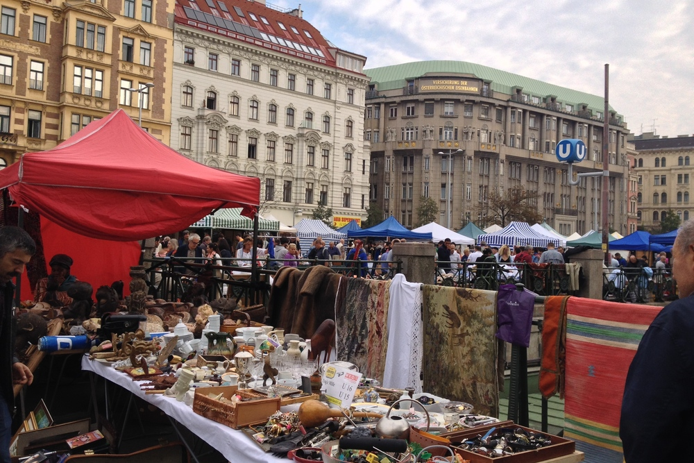 Naschmarkt - the place to go if you want to purchase a overpriced tchotchke.