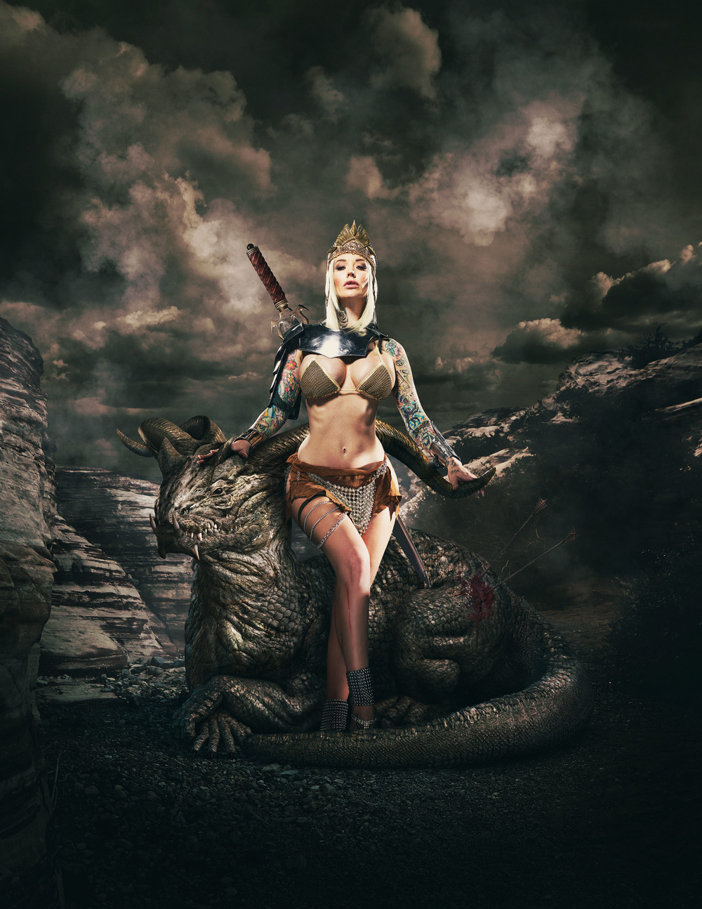 Featured in Luerzer's Archive 200 Best Digital Artists   Fantasy art collaboration  Sabina Kelley  Photography • Matt Barnes  cgi • Brad Pickard