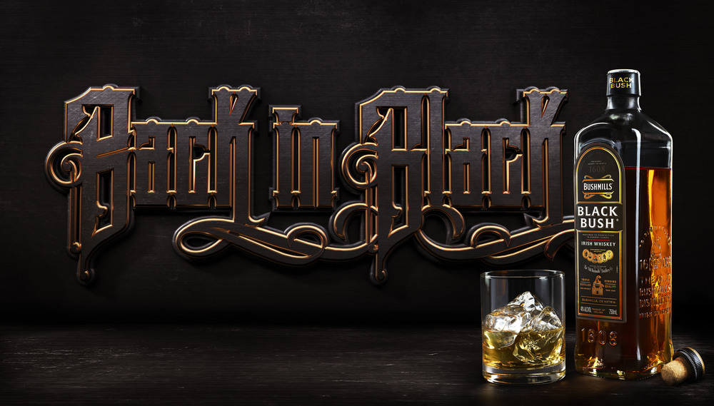 Client • Bushmills  Art Director • Jason Souce  Photography • Nikki Ormerod  CGI Typography and Compositing • Brad Pickard