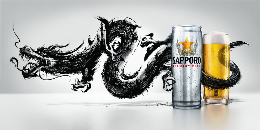 Client • Sapporo  Agency • Dentsu  Art Director • Kyle Scotland  CGI • Brad Pickard