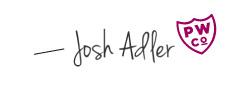 josh adler signature