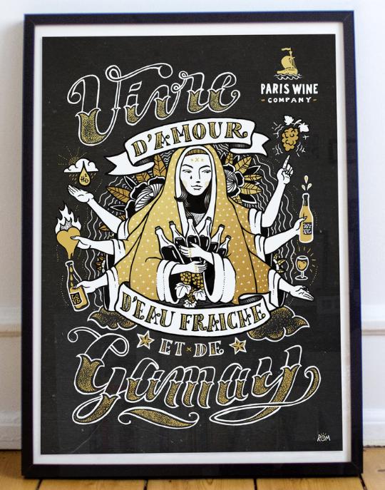 Paris Wine Company Poster