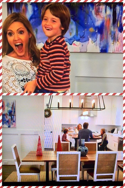 """Spotted! Liza's work was recently featured in the holderness family home. famous for their 2014 """"christmas jammies"""", the family rang in the 2016 holiday season with """"the 12 foods of christmas"""" on the food network."""