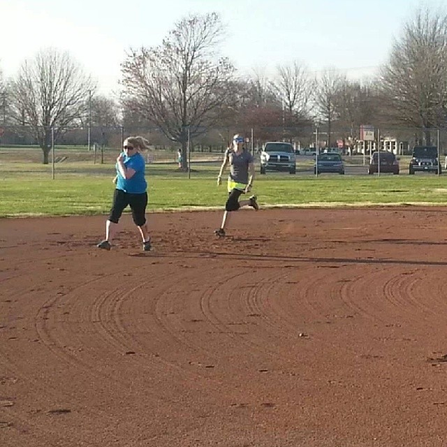 Running the bases!