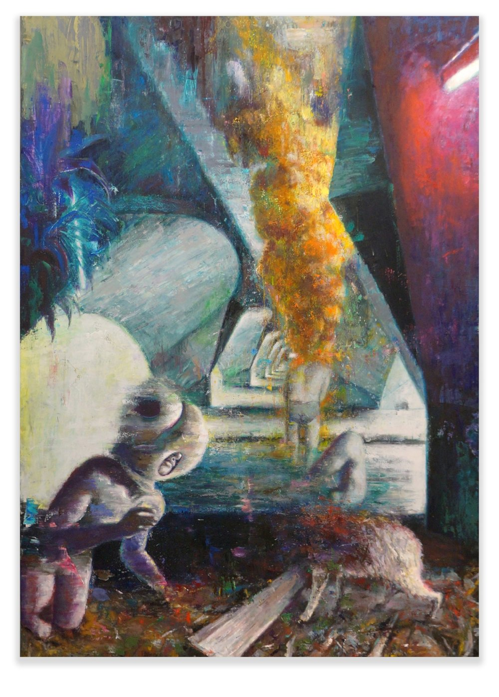 Thermidorians, 2018, oil on canvas, 200x150cm